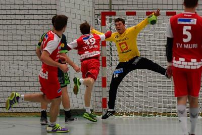 Yves Imhof parierte 23 Würfe und brachte den Gegner fast zur Verzweiflung. (Bild: Remo Scherrer)